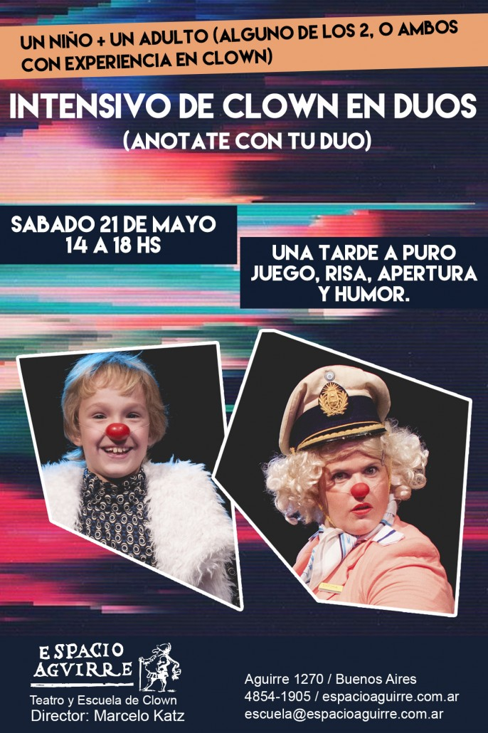 Flyer clown chico + adulto
